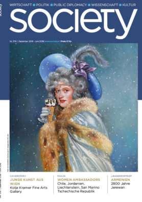 Cover des society Magazins Nummer 374: Dezember 2018 bis Juni 2019