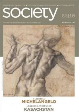 Cover des society Magazins Nummer 355: Herbst 2010
