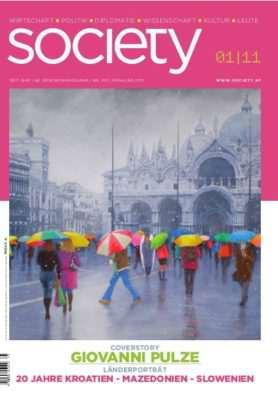 Cover des society Magazins Nummer 357: Frühling 2011
