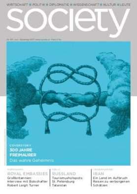 Cover des society Magazins Nummer 371: Juni bis Dezember 2017